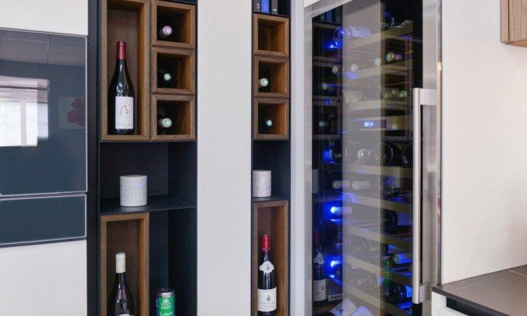 installation cave à vin dans cuisine Annecy