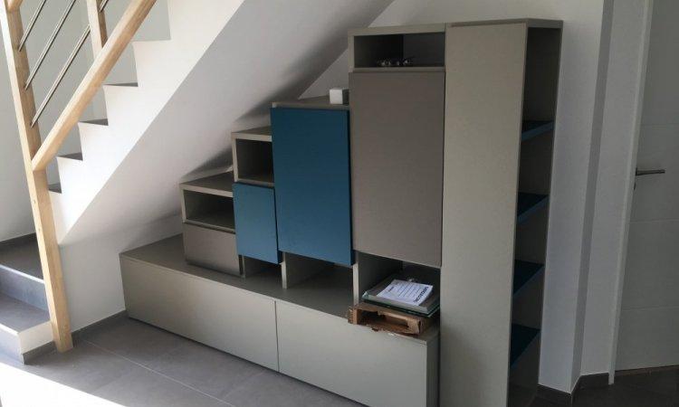 conception bibliothèque sur mesure Annecy
