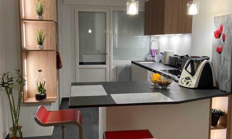 creation de cuisine haut de gamme sur mesure à Annecy
